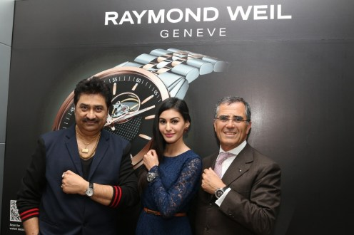 Amyra Dastur, Kumar Sanu with Olivier Bernheim at Rayond Weil event