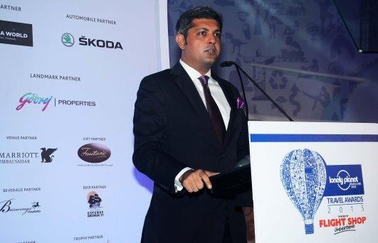 Deepak Lamba (CEO, WWM) at the 'Lonely Planet Travel Awards 2015' at JW Marriot Sahar.