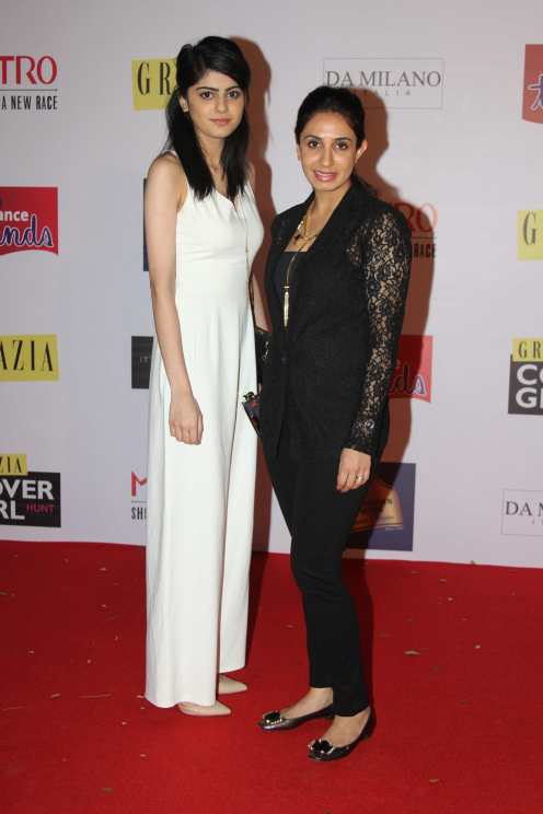 Asheema at the Red Carpet of Grazia Cover Girl Hunt at Tote on the Turf
