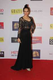 Deepanita Sharma at the Red Carpet of Grazia Cover Girl Hunt at Tote on the Turf