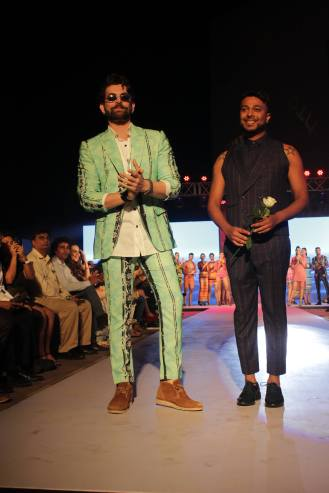 Neil Nitin with Designer Ken Ferns @ Tech Fashion Tour
