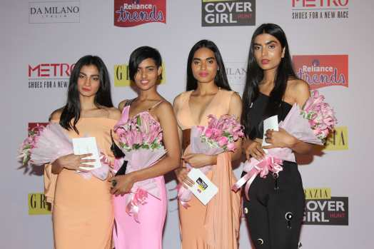 Winner Alice Rosario (in Pink Dress) of Grazia Cover Girl Hunt with other winners.1