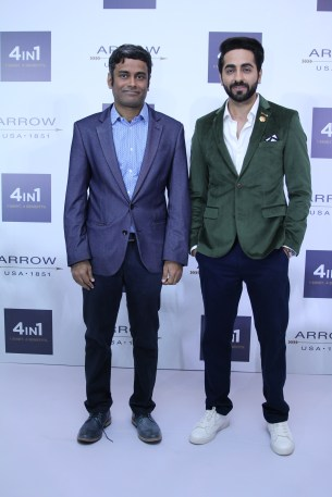 Mr Mauli Venkatraman and Ayushmann Khurrana at the Arrow 4in1 Shirt Launch