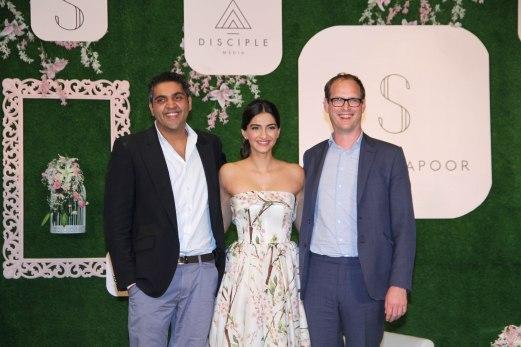 varun Talreja,Sonam Kapoor & CEO of Disciple Media, Benji Vaughan 3