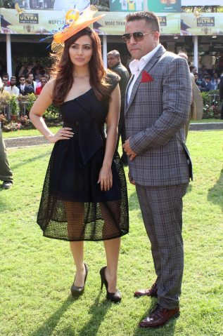 sana-khan-with-waahiid-ali-khan-ceo-sshaawn-group-of-companies-grace-the-sshaawns-million-cup-on-indian-derby-day