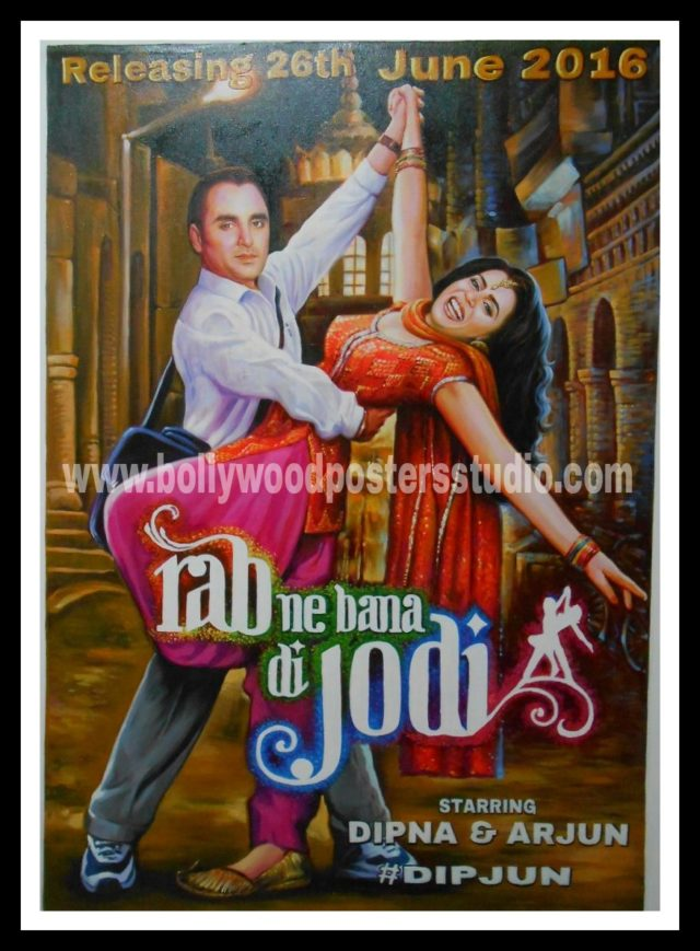 custom bollywood posters save the date