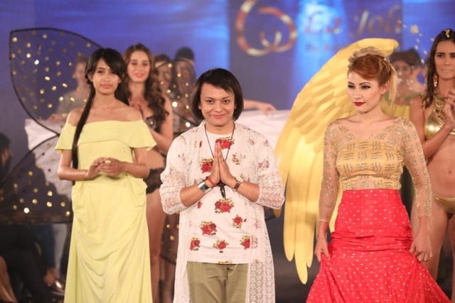 Miss Manipur 2016 Phapha Cara Ge Gachui as showstopper for Keith Jackson at IIFW