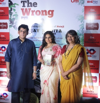 Sanjay Chopra, Vidya Balan and Namita Roy Ghose at the book 'The Wrong Turn', launch