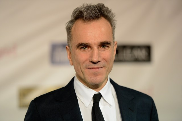 """SANTA MONICA, CA - JANUARY 10: Actor Daniel Day-Lewis, winner of Best Actor for """"Lincoln,"""" poses in the press room at the 18th Annual Critics' Choice Movie Awards held at Barker Hangar on January 10, 2013 in Santa Monica, California. (Photo by Jason Merritt/Getty Images)"""