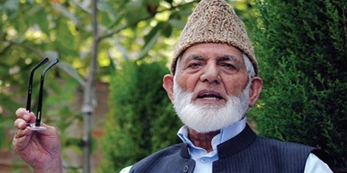 Photo of Leader of Tehreek-e-Azadi, Syed Ali Gilani resigns from his publish