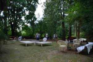 Spunta un salotto nel bosco  è l'estate di Villa Getsemani