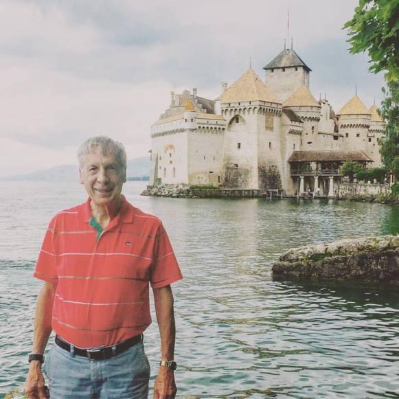 Howard at Chateau de Chillon