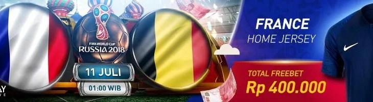 Tebak skor Perancis vs Belgia