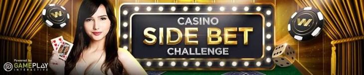 Side bet challenge casino