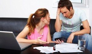 Couple Arguing over Bills