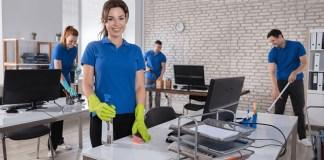 operator cleaning office operador de limpieza oficinas