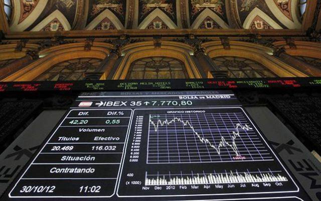 La Bolsa de Madrid acaba el lunes con un retroceso del 3,08%