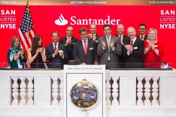 Banco Santander cumple 30 años en la Bolsa de Nueva York