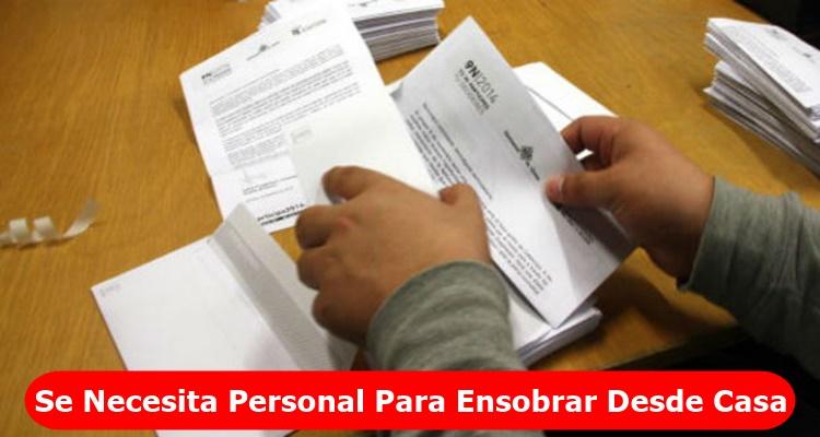 Empleo Ensobrando Documentos En Casa