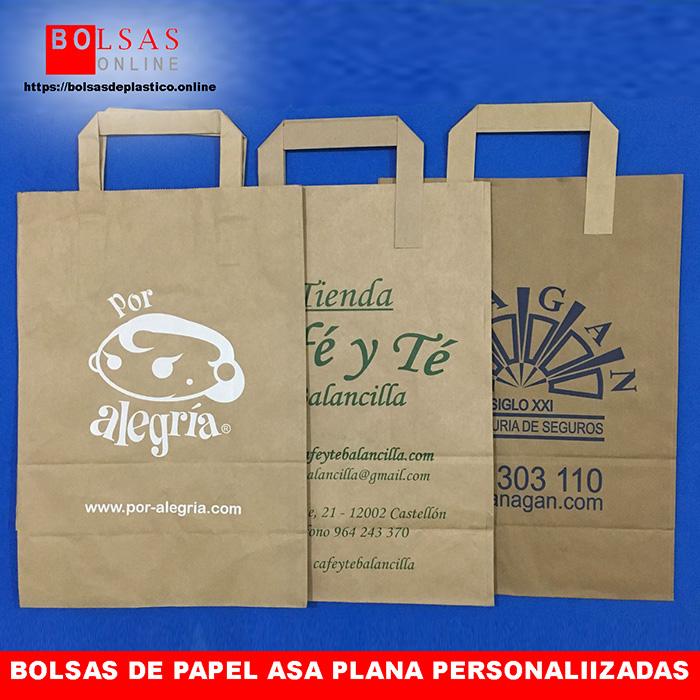 f24a3dc84 Bolsas de papel asa plana interior 22x10X29. - ✓ Bolsas Online