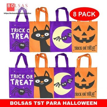 The Twiddlers Bolsas de Tela de Halloween - 4 Diseños Distintos Fiesta IR de Trick or Treat Favores