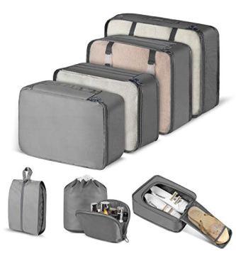 cishanjia organizador de maletas set de 8 organizador de equipaje para