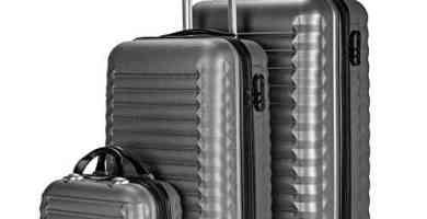 newteck juego maletas y neceser 3 pzs maleta mediana y pequea
