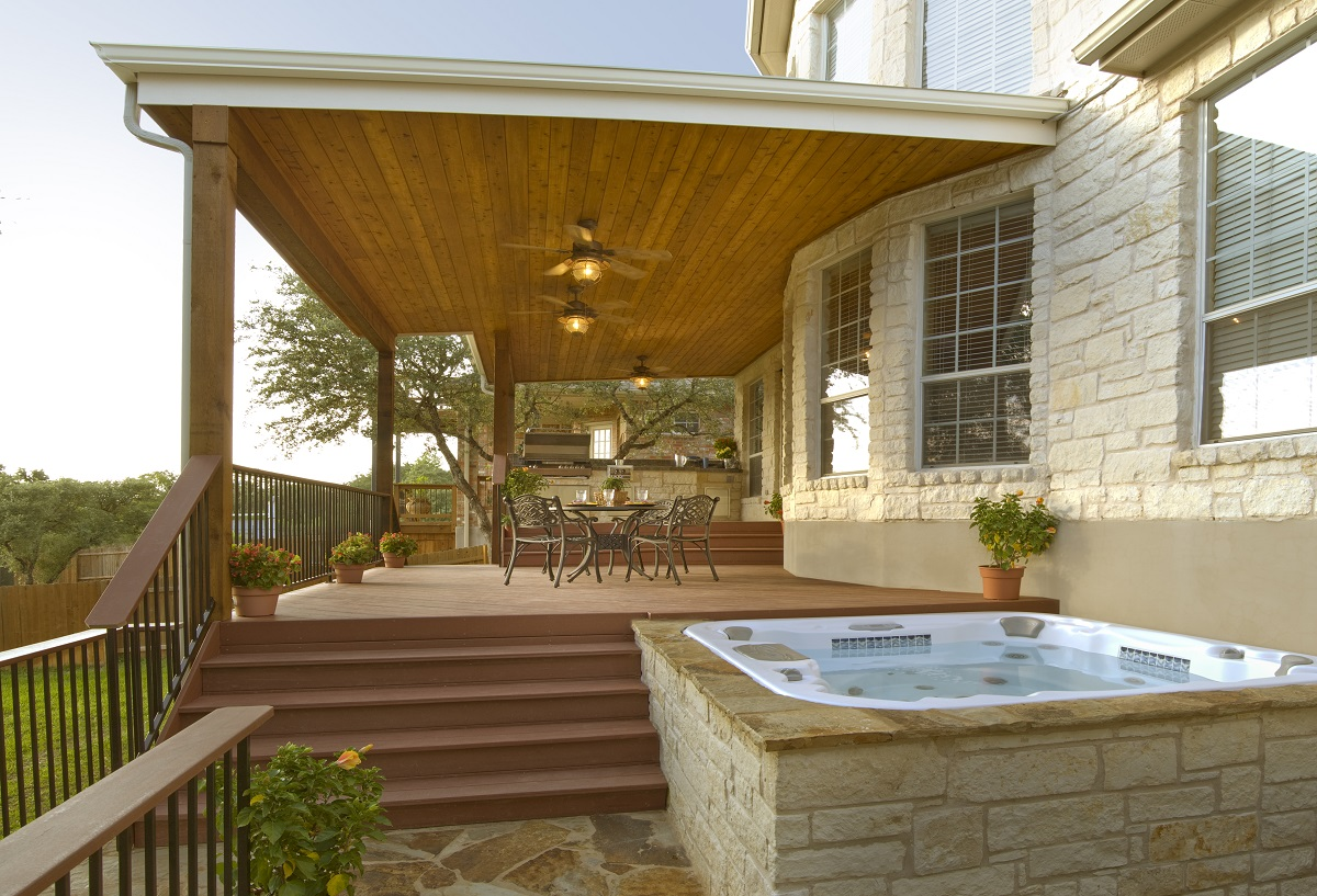 Houston Covered Patio Builder on Patio With Deck Ideas id=60046