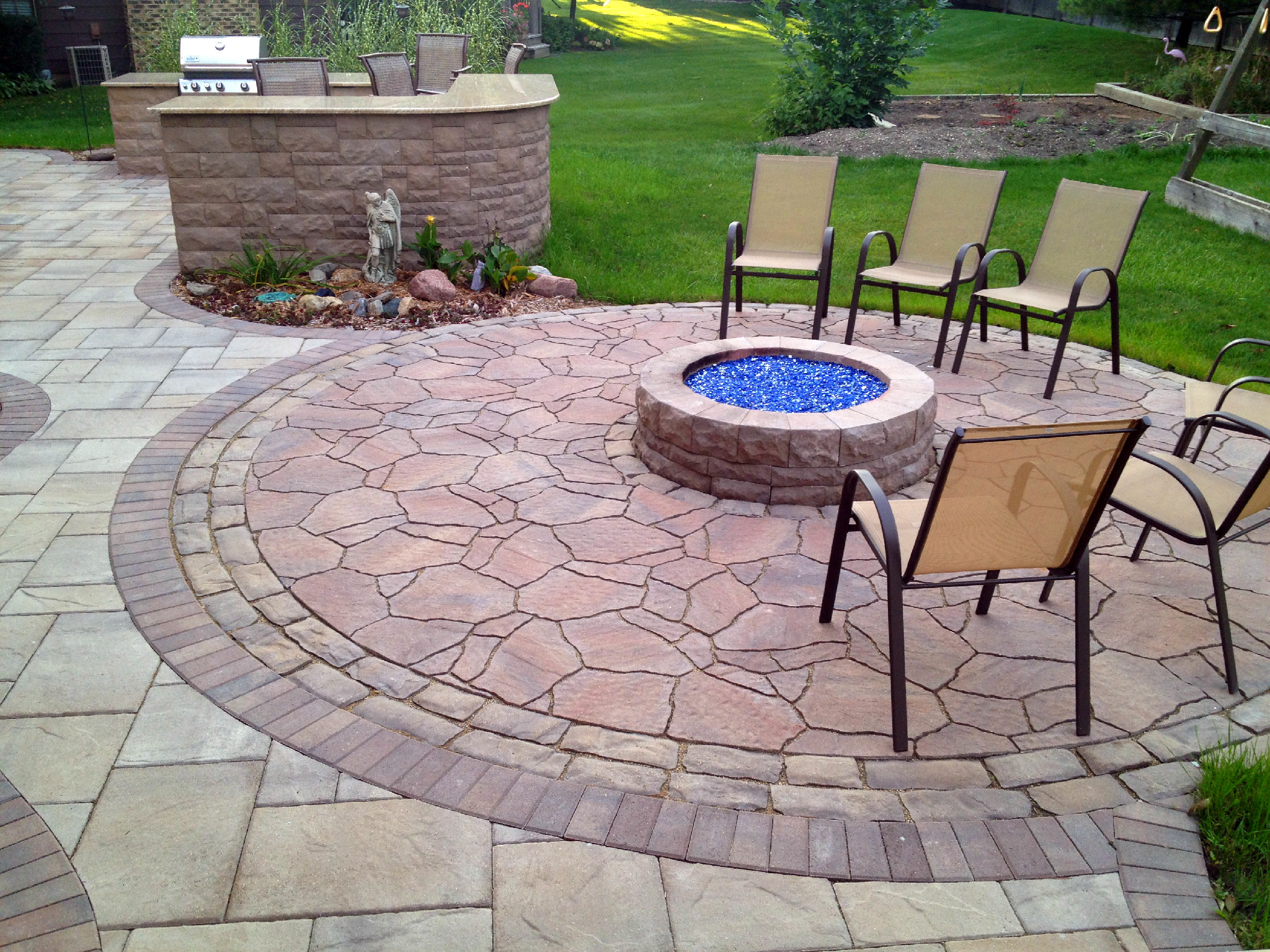 Should I Use Concrete or Pavers for My Chicagoland Patio ... on Paver Patio Designs With Fire Pit id=58022