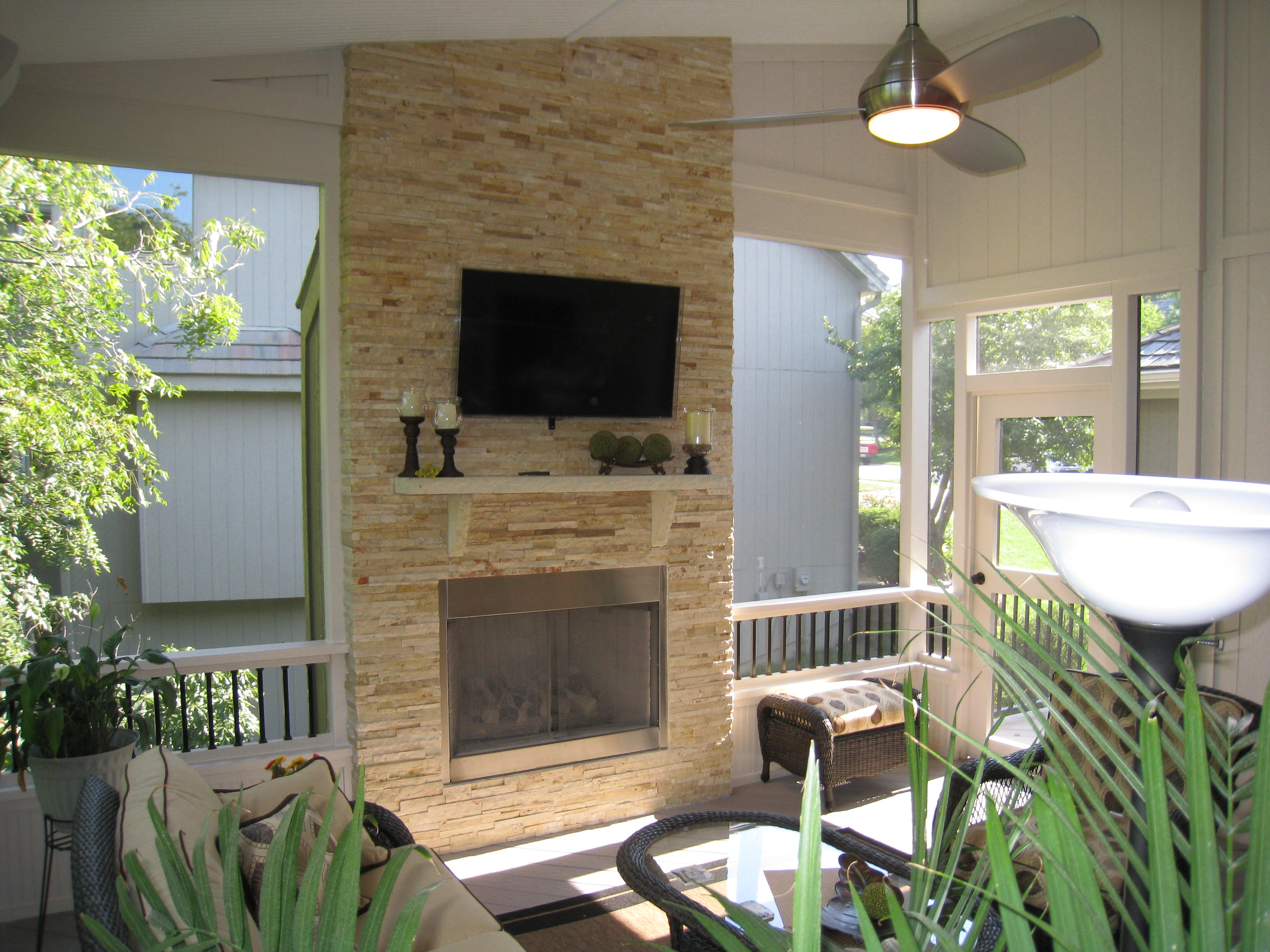 Outdoor Fireplace for Your Porch or Deck on Outdoor Gas Fireplace For Deck id=99609