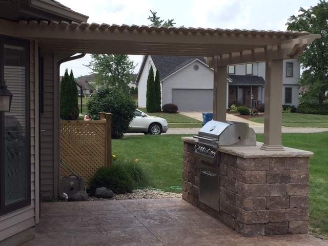 Beautiful New Haven Patio, Pergola & Grill Station by ... on Patio Grill Station id=73164