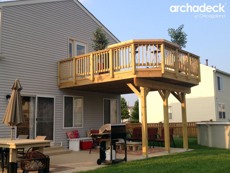 Deck Design Ideas by Archadeck of Chicagoland | Archadeck ... on Deck Over Patio Ideas id=86939