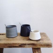 Salt and pepper pots by Elaine Bolt