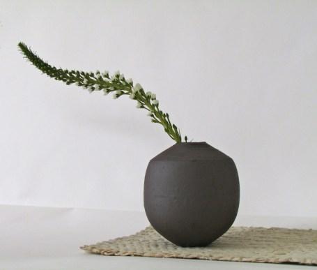 Elaine Bolt dark terracotta vessel