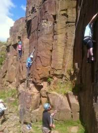 Troy quarry rockclimb