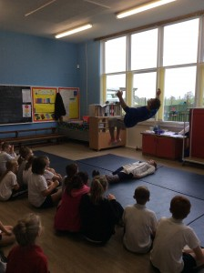 This is Harry Owen, the athlete who came on our Sports For Champions day, demonstrating his fantastic skills!