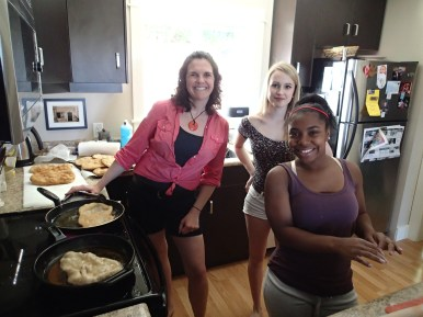 """Mrs Bateman cooks """"Beaver Tails"""" with some Timmis Girls"""