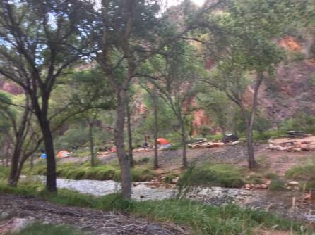 著名的光明使者宿营地。大峡谷里面最抢手的