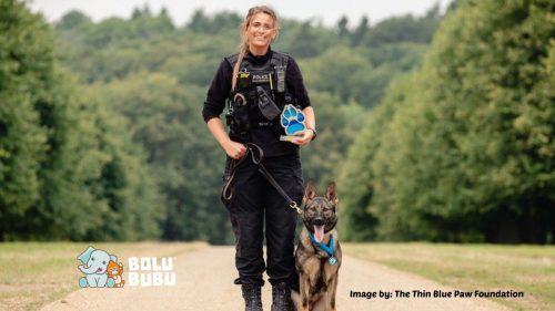 penghargaan untuk anjing polisi