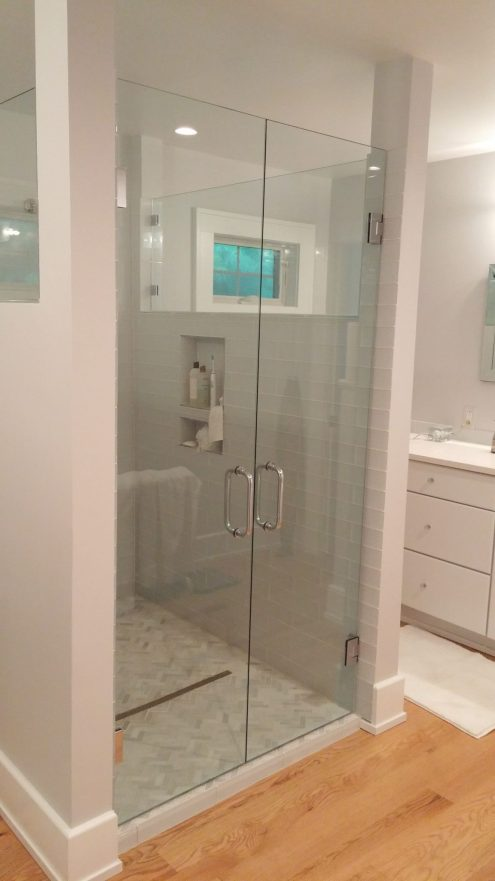 shower with inset