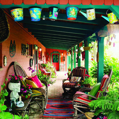 Big Ideas for Decorating Small Outdoor Spaces « Bombay ... on Mexican Backyard Decor id=97131