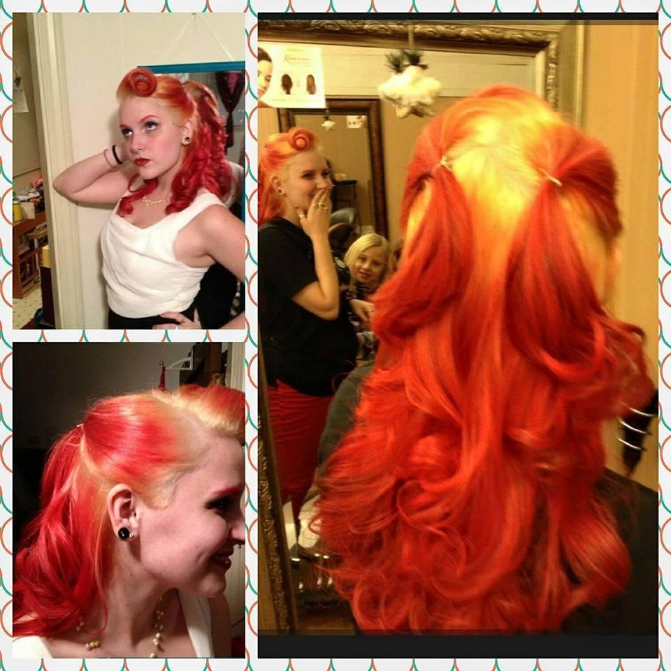 Red Flame Hair at Bombshell Hair Shop