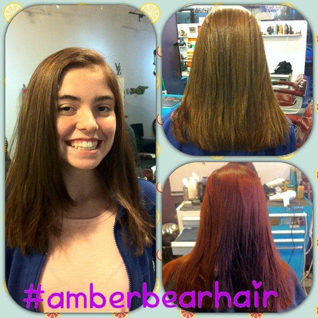 Red and Long at Bombshell Hairshop