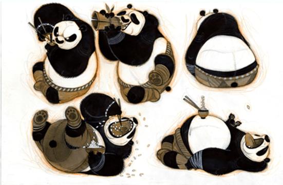 Kung Fu Panda (2008), artista Nicolas Marlet. © 2019 DreamWorks Animation LLC. Todos os direitos reservados.
