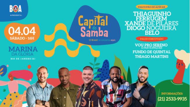 Capital do Samba: festival leva o melhor do ritmo para a Marina da Glória