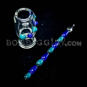 boxfan teal dabber and dome set