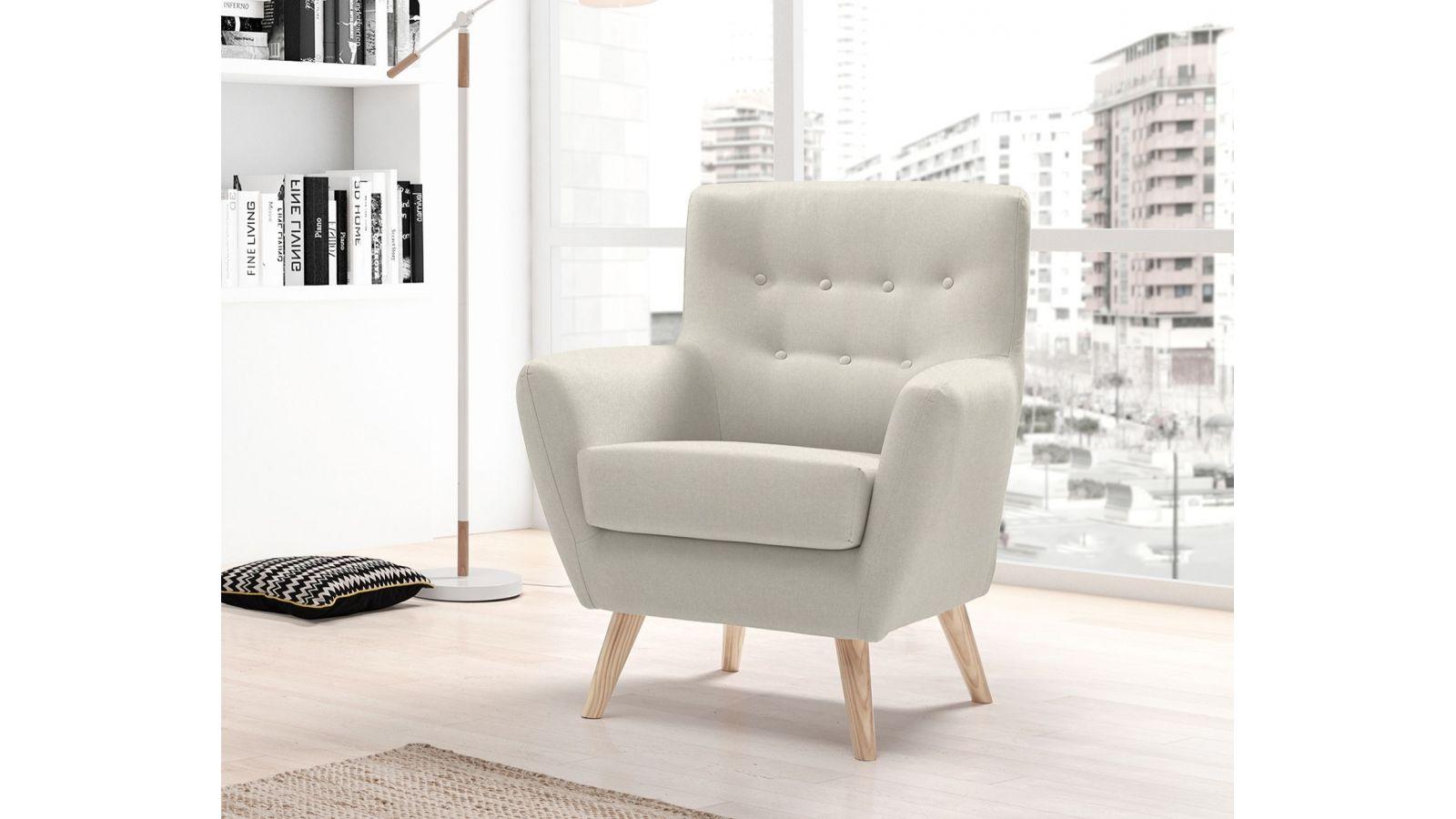 fauteuil scandinave sansa en tissu