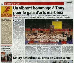 Article de l'Indépendant Gala 2012