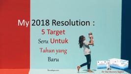 My 2018 Resolution : 5 Target Seru Untuk Tahun yang Baru