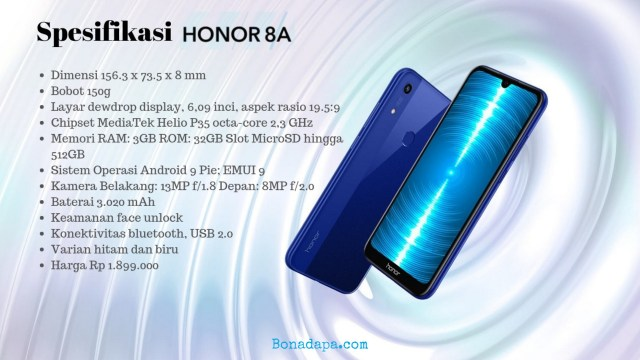 Spesifikasi Honor 8A